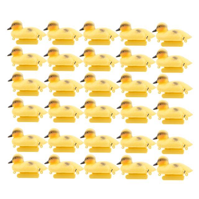 30 Pièces Flottant Canard Leurre Pack Réaliste En Plastique Canard Chasse Leurre Jardin Décor