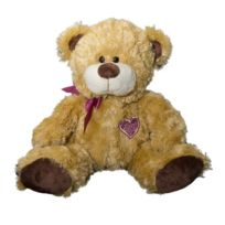Wild Planet - All About Nature - K7536 - Peluche - Ours Avec Ruban - Rose - 36 Cm
