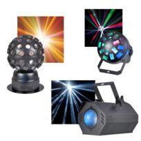 Kool Light - Pack 3 jeux de lumières à Led, 3 effets différents