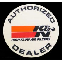 K&N - Adhesif Authorized Dealer Kn - rond - 12cm - 89-0050 - Adnauto