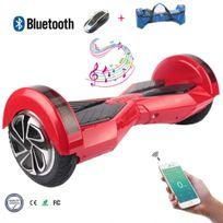 COOL&FUN Hoverboard Bluetooth,Scooter électrique Auto-équilibrage,gyropode connecté 8 pouces Rouge Noir