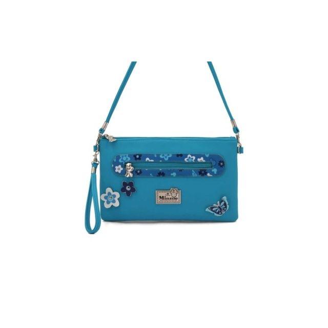 f829f5a876 Cherriz - Sac a main pochette Minnie - Bleu - pas cher Achat / Vente ...