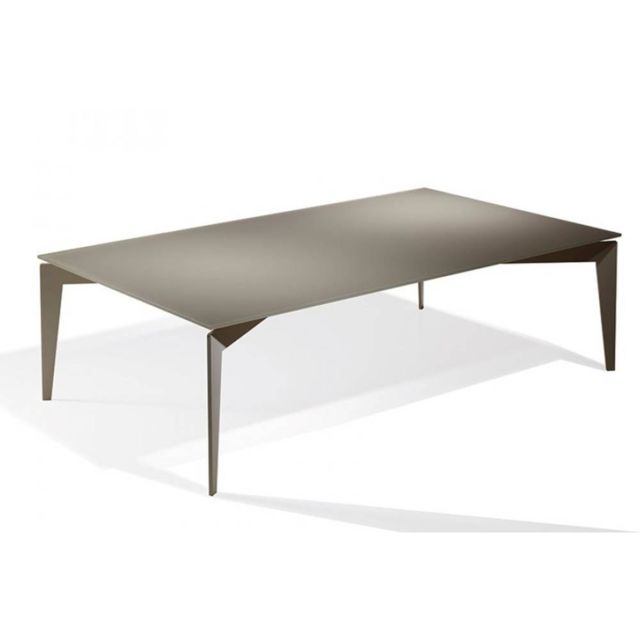Inside 75 Table basse Rocky en verre taupe