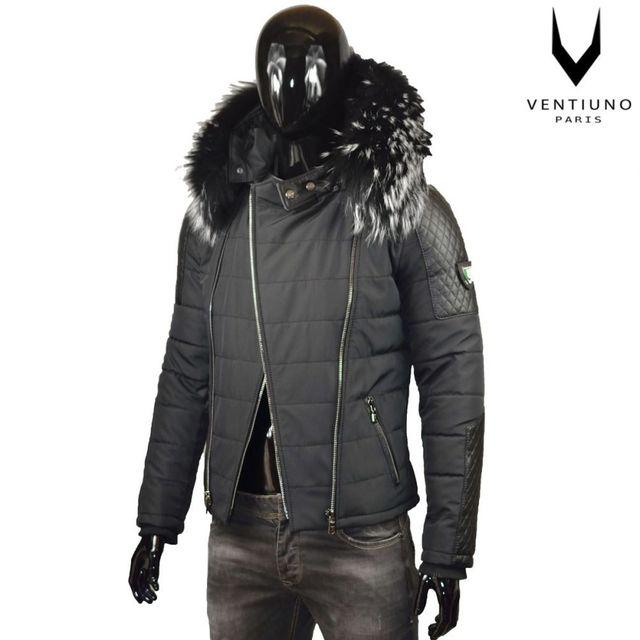 ventiuno-veste-morato-34-bi-matiere-noir-fourrure-renard-veritable-cuir.jpg beafb291088