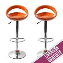 096301d7e39a6f New Art - Tabouret de bar Snack rouge - lot de 2 - pas cher Achat ...