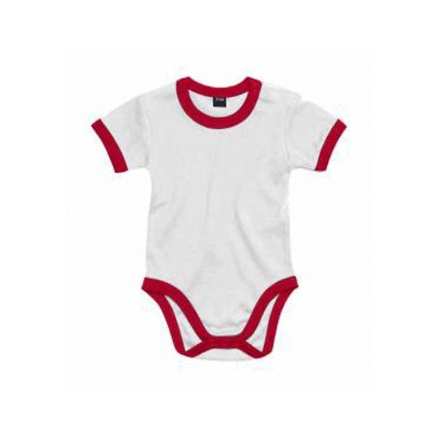 Babybugz - body bébé jambes manches courtes - Bz19 - blanc et rouge - pas  cher Achat   Vente Sous-vêtements 1ba772a84d5