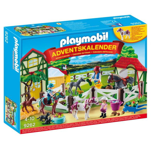 playmobil 9262 calendrier de lavent centre questre - Play Mobile Fille