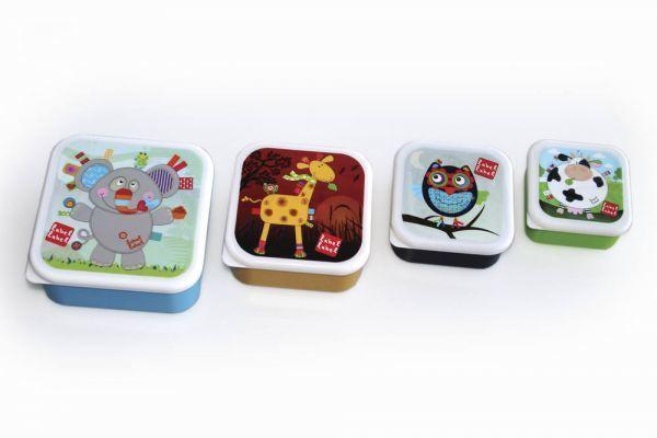 Label Label Label-Label - Lot de 4 boîtes Gigognes repas carrés