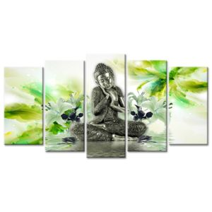 declina d coration murale zen sur toile tableau bouddha pas cher 80cm x 150cm pas cher. Black Bedroom Furniture Sets. Home Design Ideas