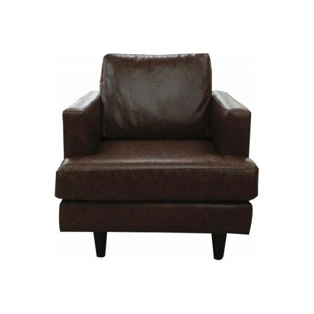 Declikdeco Optimisez votre confort avec ce Fauteuil en simili-cuir Suzanna ! Vous pouvez le mettre dans la chambre ou le salon. Raf