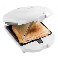 Bestron - Multi-grill individuel blanc compact 3 en 1 - Croque-monsieur / gaufre / grill