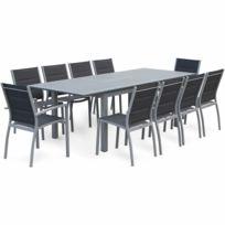 table de jardin aluminium avec rallonge - Ensemble Chaise Et Table De Jardin