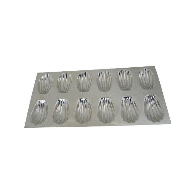 Guery Plaque à madeleine fer blanc 35 x 14.4 cm