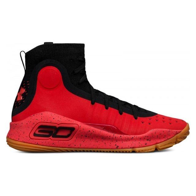 outlet store 2a182 d4ddc Under Armour - Chaussure de Basketball Curry 4 Grade School Rouge et noir  Pour Enfants Pointure - 39 38 - 38 - pas cher Achat   Vente Chaussures  basket - ...