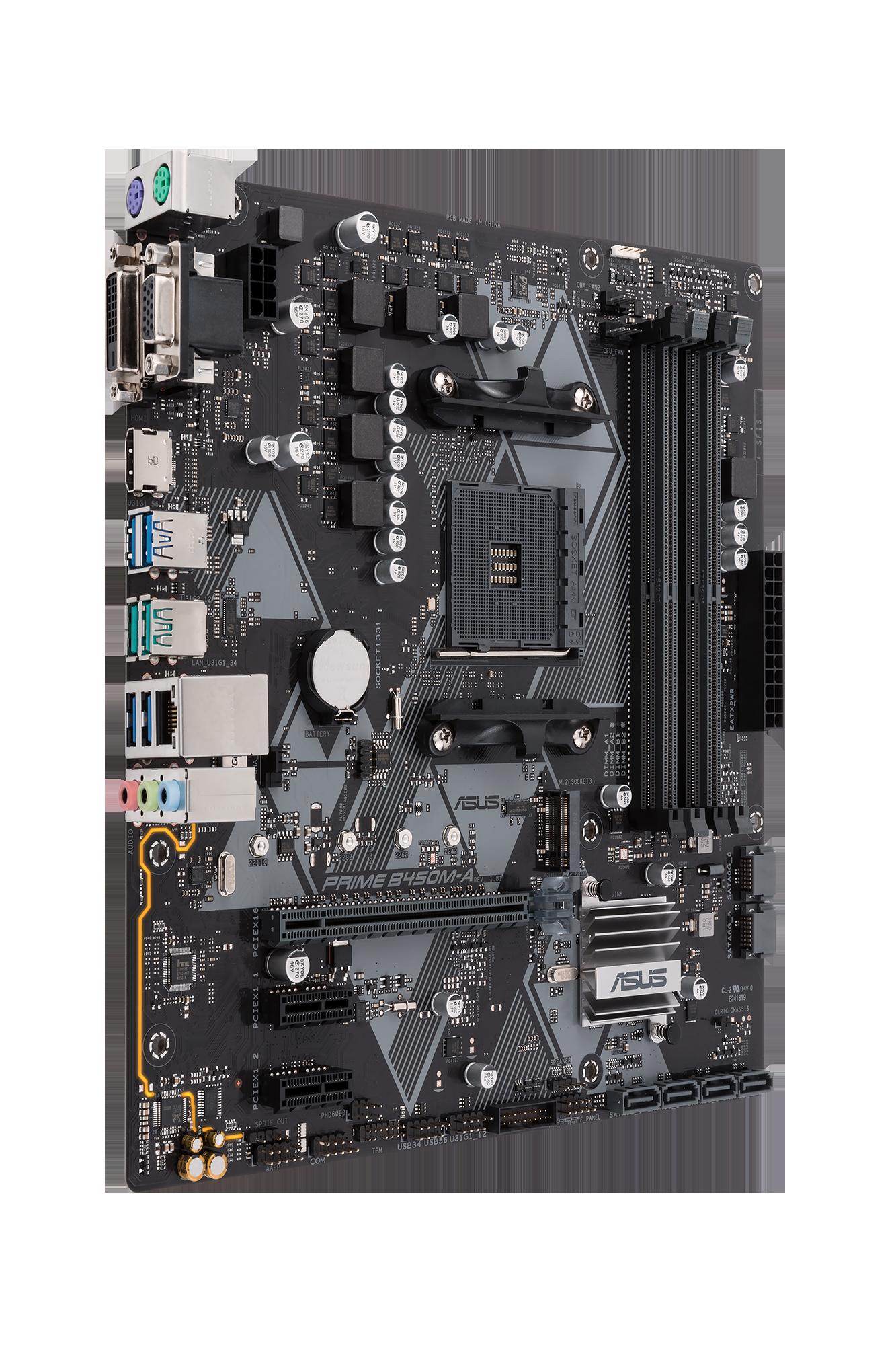Carte mère AMD B450 PRIME Micro ATX Asus
