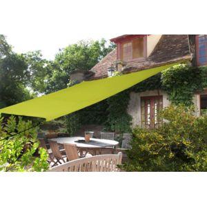 ideanature voile ombre rectangulaire 4 m tres pas cher achat vente voile d 39 ombrage. Black Bedroom Furniture Sets. Home Design Ideas