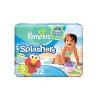 - Maillots de bain 22 Couches Pampers Splashers 14/18Kg Taille 5 plage et piscine