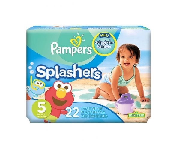 Maillots de bain 44 couches pampers splashers 14 18kg taille 5 plage et piscine pas cher achat - Couche bebe pour piscine pampers ...