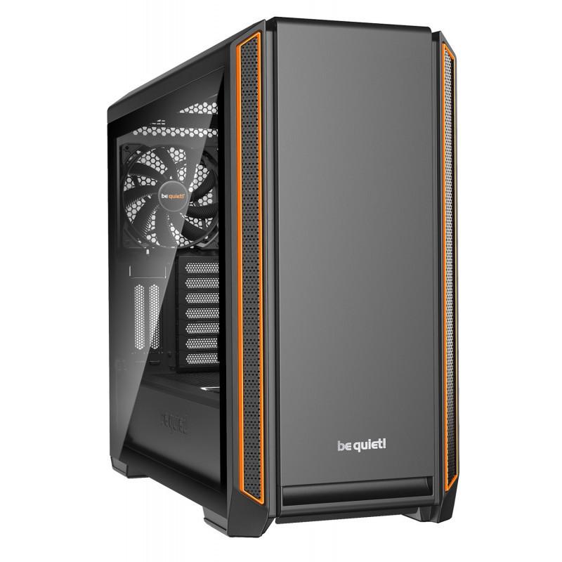 Silent Base 601 - E-ATX - Noir/Orange - Sans fenêtre