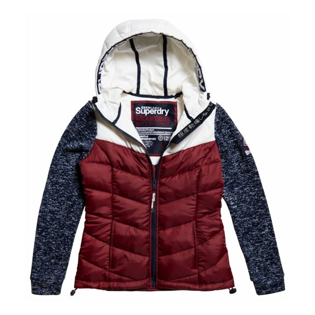 Superdry Sweat Storm Hybrid Clrblock Navy Blizzard Bleu