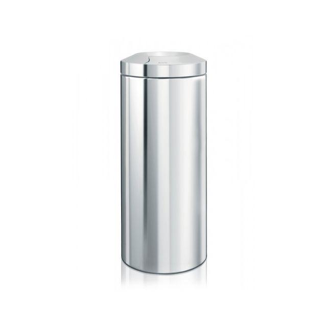 Brabantia Corbeille à papier pare-flamme 30 litres - Brilliant Steel