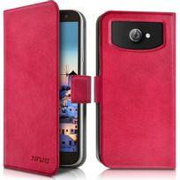 Karylax - Housse Etui Universel L couleur rose fushia pour Smartphone Huawei Honor 7 Premium