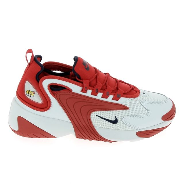 Nike - Zoom 2K Blanc Rouge - pas cher Achat / Vente Baskets ...