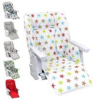 MONSIEUR BEBE - Housse d'assise pour chaise haute bébé enfant gamme Ptit