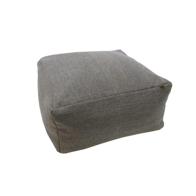 overseas pouf basic 60 x 60 x 30 cm fume gris - Grand Cadre Photo Pas Cher2360