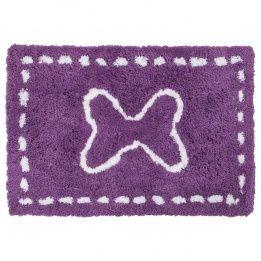 marque generique tapis microfibre 90 cm enfant violet pas cher achat vente tapis. Black Bedroom Furniture Sets. Home Design Ideas