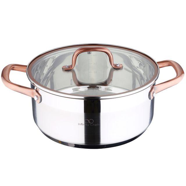 Bergner Casserole Infinity Chef - 24X10.5 4.5L Inox- Induction