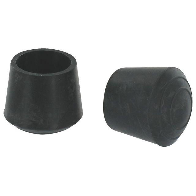 Vendu par 8 Diamètre 10 mm Embout enveloppant plastique noir PVM