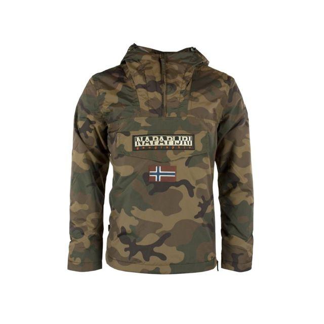 9548c11ed4a Napapijri - Parka Rainforest Camouflage - pas cher Achat   Vente Blouson  homme - RueDuCommerce