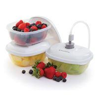 Foodsaver - lot de 3 boîtes alimentaires 0,50l pour appareil sous vide - t020-00024-i