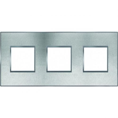 Arnould plaque 3 postes espace evolution inox