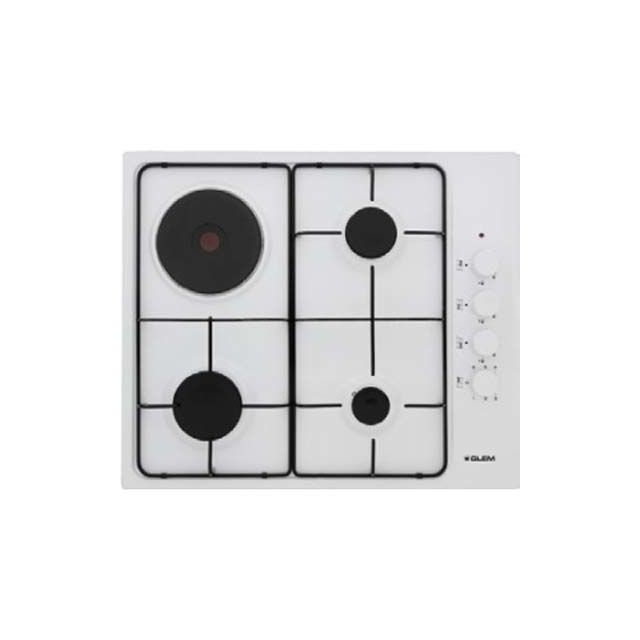 Table Cuisson Mixte Gaz Electrique Gtl647wh Gtl 647 Wh Blanc