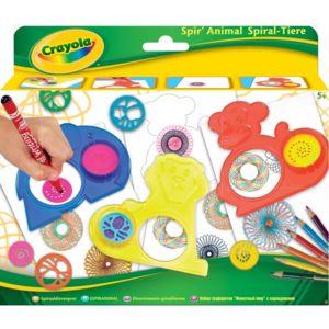 Crayola - Kit rosaces et pochoirs Spir'ANIMAL
