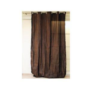 soleil d 39 ocre rideaux oeillets bambou chocolat pas cher achat vente rideaux rueducommerce. Black Bedroom Furniture Sets. Home Design Ideas