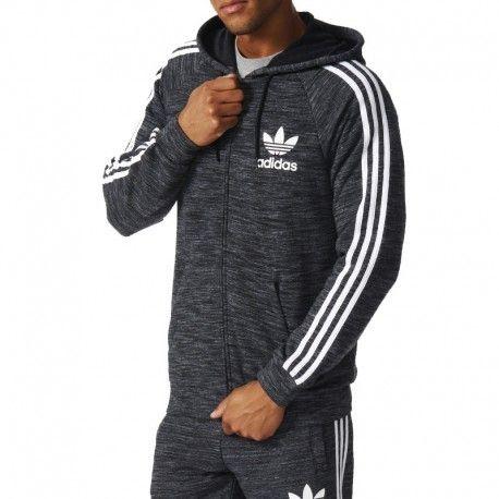 9f38e932755e7 Adidas originals - Sweat à Capuche Clfn Gris Homme Adidas - pas cher ...