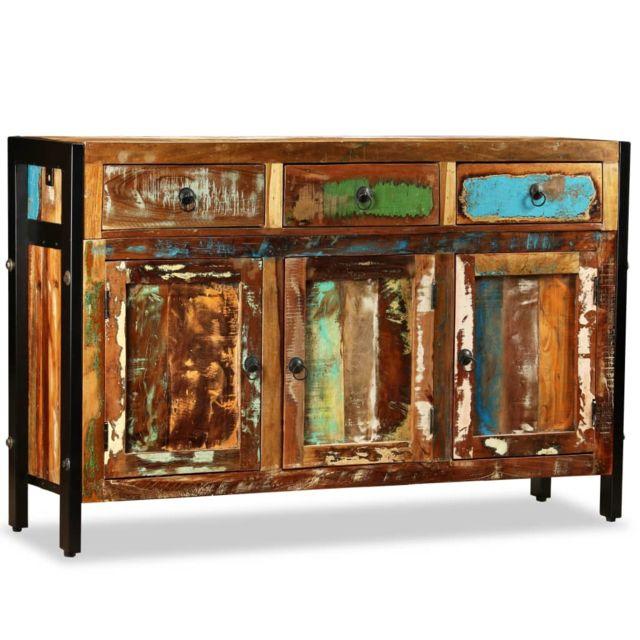 Magnifique Armoires et meubles de rangement serie Ramallah Buffet Bois de récupération massif 120 x 35 x 76 cm