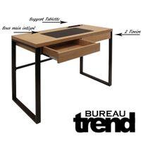 bureau bois et metal Achat bureau bois et metal pas cher Rue