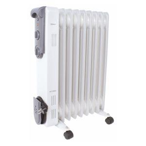radiateur bain d 39 huile 1500w blanc laqu gris pas cher achat vente radiateur bain d 39 huile. Black Bedroom Furniture Sets. Home Design Ideas