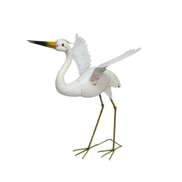 Douceur D'INTERIEUR Heron en métal 68 cm