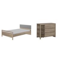 bois lit 120x190 achat bois lit 120x190 pas cher rue du commerce. Black Bedroom Furniture Sets. Home Design Ideas