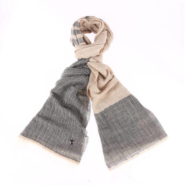 Pierre cardin - Chèche en laine et coton mélangé gris chiné et beige - pas  cher Achat   Vente Echarpes, foulards - RueDuCommerce 06044a1cecb
