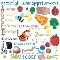 """Jomoval - Roommates Stickers Muraux """"EDUCATION"""" Enfant Repositionnable"""