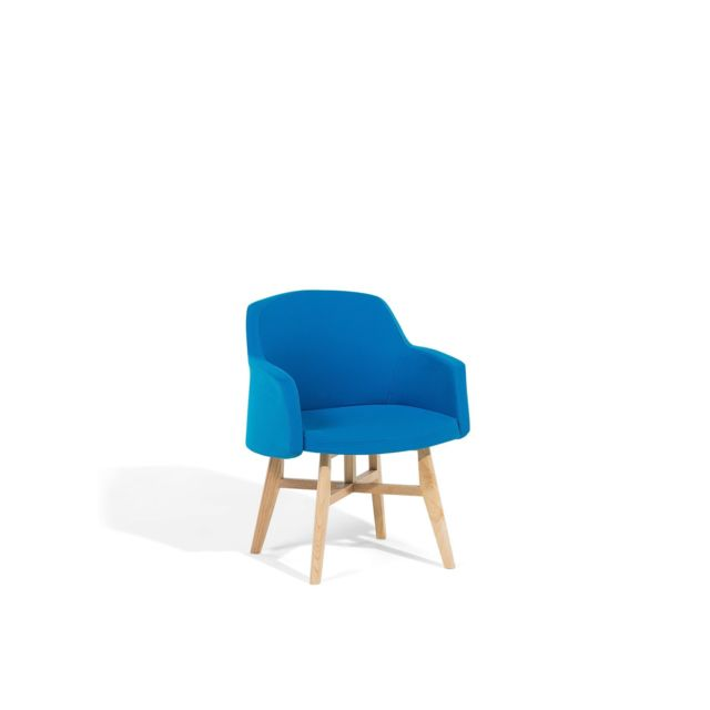 BELIANI Fauteuil en tissu bleu YSTAD - bleu