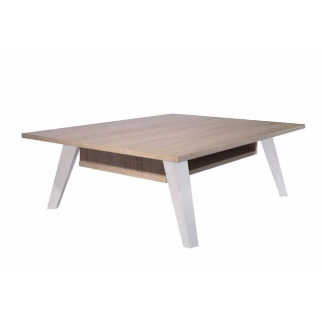 Inside 75 Table basse design scandinave Square une allonge