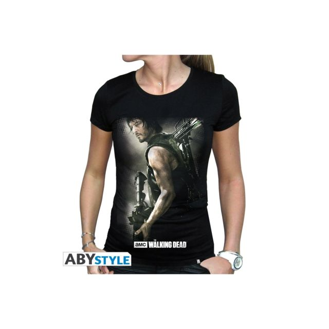 The Walking Dead T shirt Daryl Arbalète femme Mc black basic