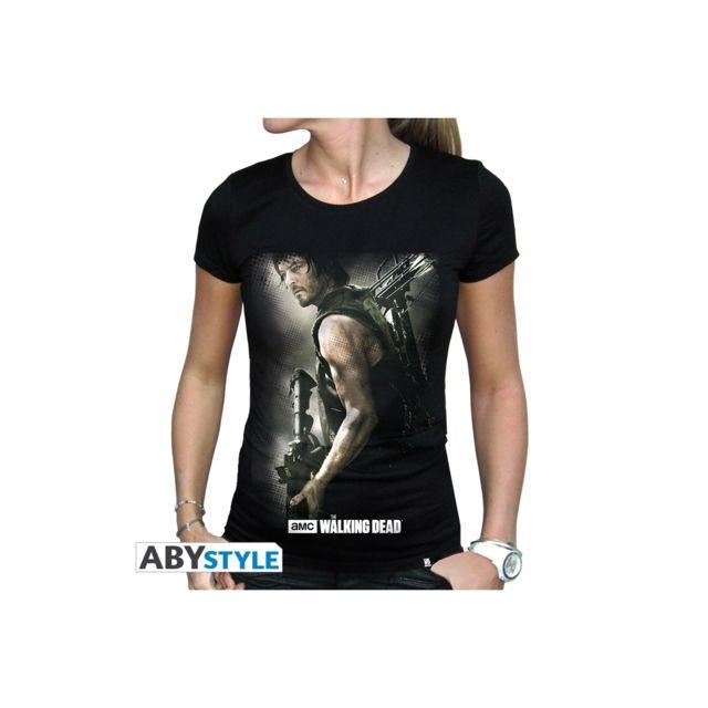 The Walking Dead T shirt Daryl Arbalète femme Mc black basic